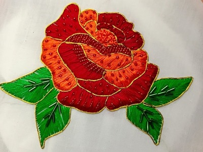 Hand Embroidery: Rose Embroidery (Fancy)