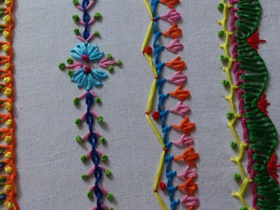 Hand embroidery stitches tutorial for beginners.Part-6, decorative stitches.