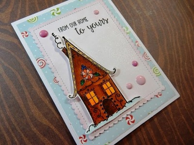 Holiday Card Series 2016 | Day 7 of 25 | Stamping Bella Gingerbread House