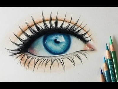 How I Draw a Realistic Colored Eye