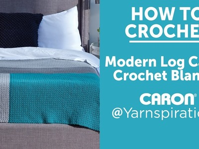 How to Crochet a Blanket: Modern Log Cabin