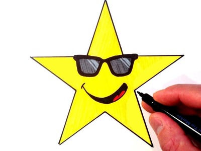 How to Draw a Cool Superstar Smiley Face