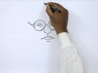 How to Draw Dr.Ambedkar