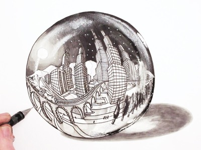 How to Draw in Perspective: 5-Point City