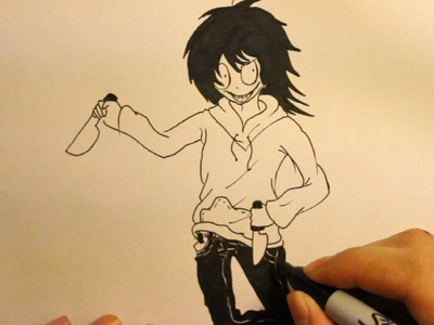 How To Draw Jeff The Killer|Step By Step|Easy|anime