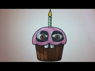 How To Draw The Cupcake From Five Nights At Freddy's Step By Step