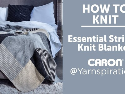 How to Knit: Essential Stripes Knit Blanket