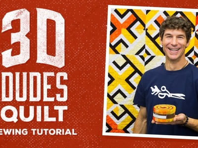 How to Make a 3D Dudes Quilt with Rob!