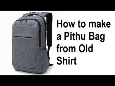 How to make a bag from old shirt