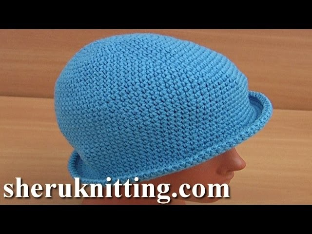 How to Make a Crochet Brim Hat Tutorial 41 Part 1 of 2