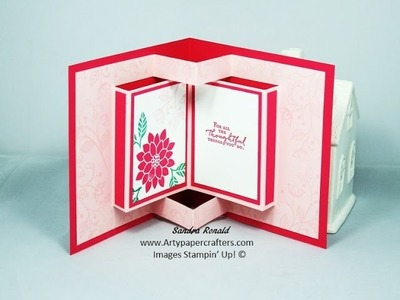 How to Make a Pop-Up Book Greetings Card made using Stampin' Up! Products