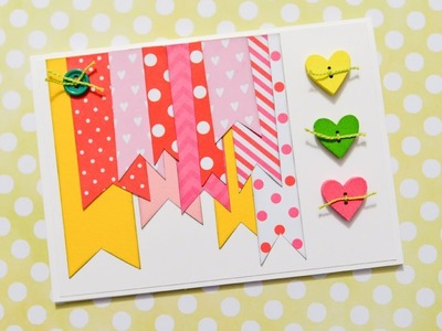 How to Make - Greeting Card Valentine's Day Hearts - Step by Step DIY | Kartka Walentynki