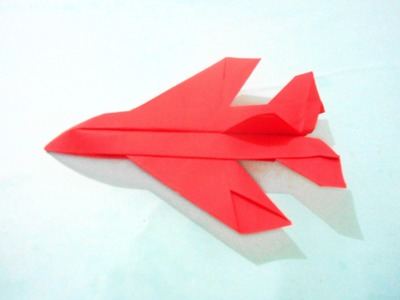 How To Make Paper Airplane Easy Origami Jet Fighter PAPER PLANE