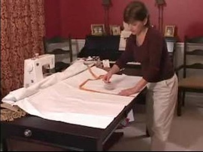 How to Sew Curtains : How to Cut Lining for Valance Curtains