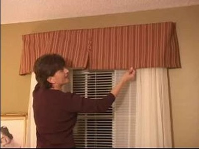 How to Sew Curtains : How To Install Valance Using L Brackets