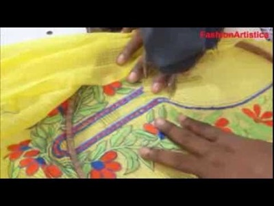 How To Sew Cut Salwar Kameez-Designer Kameej MAKING Method.Simple Way