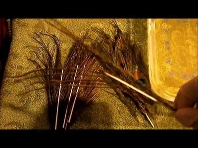 How to strip peacock quill with bleach with Johnny Utah