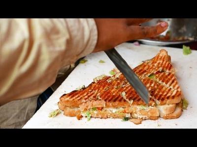 Indian Street Food - INCREDIBLY FAST Potato Sandwich Man