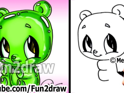 Kawaii - Gummy Bear Drawing Tutorial - Easy things to Draw for Beginners - Cute Art - Fun2draw