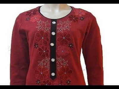 Kurti neck design cutting and stitching | easy  neck design cutting and stitching for beginners