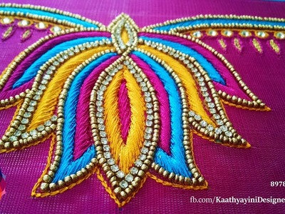 Lotus Design Works in Various Hand Embroidery