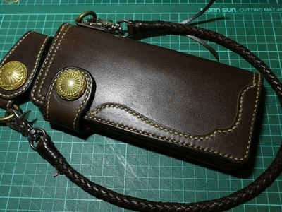 Making a Leather Biker Wallet - Part 4 Strap and Finished