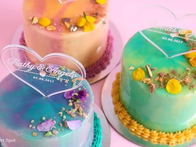 Mini Mirror Glaze Cake Tutorial-  Rosie's Dessert Spot