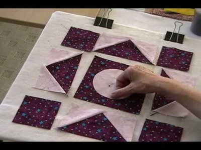 Moon and Star Quilt Block