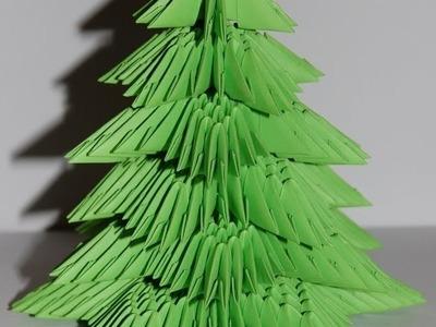 Origami Christmas tree 3D (choinka origami)