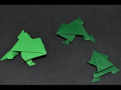 Origami: Jumper Frog. Sapo Saltador