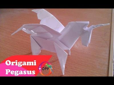 ஜ Origami pegasus tutorial by Duy ஜ How to make origami pegasus tutorial step by step ஜ