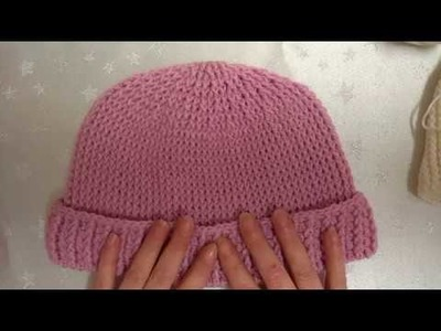 P1 How to crochet my knitted look hats baby and adult versions no visible seams