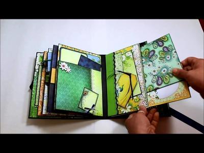 Peacock Scrapbook Album