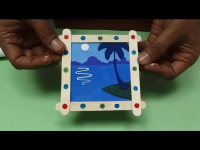 Photo frame with Ice-Cream sticks (Book A. Page 52)