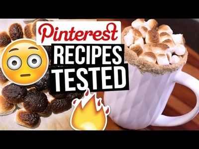 Pinterest Hacks TESTED: Hot Chocolate Recipes || What Worked & What DIDN'T