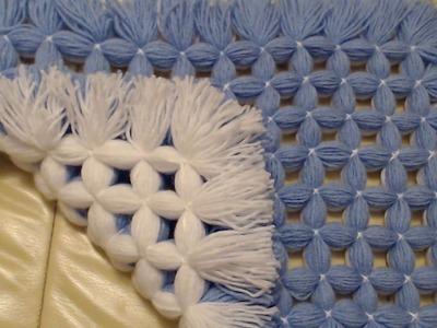 Pom pom Blanket loom - The NON Pom pom  pom pom blanket. Yes. . that's what its called