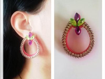 Quilling Chandbali Earring Tutorial. Design 3