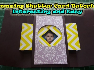 Shutter cards tutorial, shutter card easy, small and simple camera, How to make window shutter cards