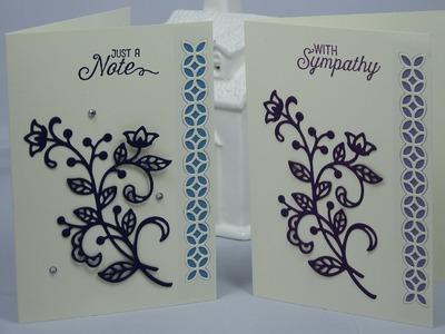 Stampin' Up! Handmade Greetings Card using Flourish Thinlits