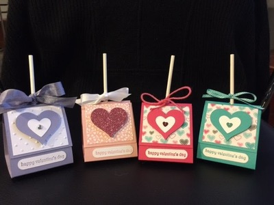 STAMPIN UP Tootsie Pop Holder, Valentine crafts