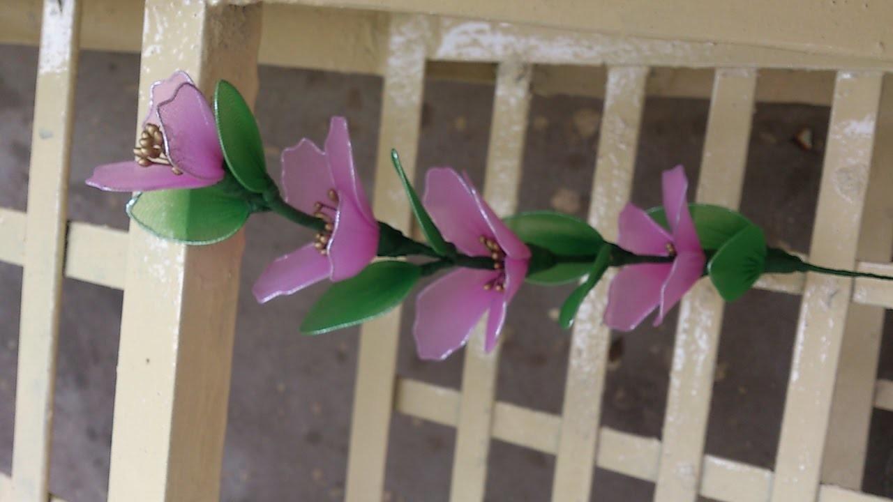 Stocking flower making videos, stocking flower tutorial easy, stocflower bouquet.