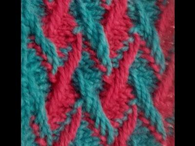Two colour braid design(दो रंग की चोटी वाली डिजाईन)