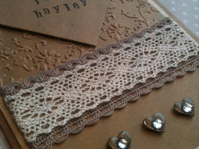 Wedding Card - Vintage Inspired