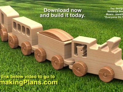 Wood Toy Plans - Happy-Go-Lucky Toy Train