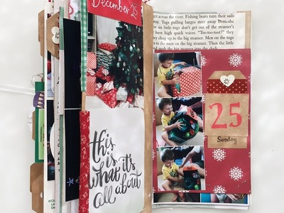 Catching Up On December Daily - Process Video Days 21-25 In My TN