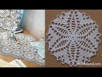 CROCHET doily Tutorial Pattern Crochet Motif How to crochet doily Part 5 Border 1 round