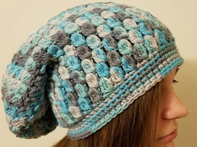 CROCHET How To #Crochet The Icy Tears Slouchy Hat Beanie #TUTORIAL  #361