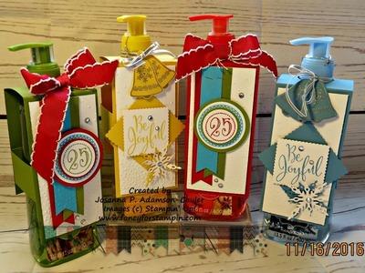 Decorated Liquid Hand Soap Bottle
