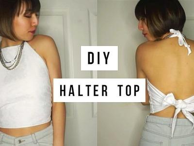 DIY: Easy Tie Back Halter Top for Under $5!