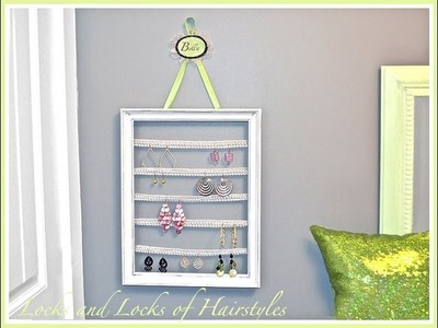 DIY Framed Earring Holder
